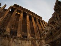 Αρχαίες ρωμαϊκές καταστροφές Baalbek στο Λίβανο - ναός Δία Στοκ εικόνες με δικαίωμα ελεύθερης χρήσης