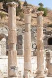 Αρχαίες στήλες σε Ephesus, Τουρκία Στοκ εικόνα με δικαίωμα ελεύθερης χρήσης