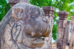 Αρχαίες στήλες γρανίτη Polonnaruwa Στοκ φωτογραφία με δικαίωμα ελεύθερης χρήσης