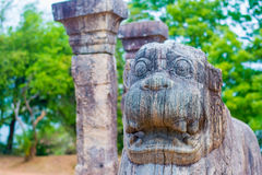 Αρχαίες στήλες γρανίτη Polonnaruwa Στοκ εικόνες με δικαίωμα ελεύθερης χρήσης