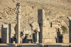 Αρχαίες στήλες στην πόλη Persepolis Στοκ Εικόνα