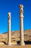 Αρχαίες στήλες στην πύλη όλων των εθνών - Persepolis Στοκ φωτογραφία με δικαίωμα ελεύθερης χρήσης