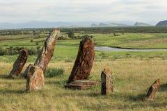 Αρχαίες ταφόπετρες σε Khakassia Δημοκρατία Khakassia, Σιβηρία στοκ εικόνες