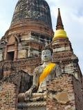 Αρχαίες ταϊλανδικές καταστροφές στο ιστορικό πάρκο Ayutthaya στοκ εικόνες με δικαίωμα ελεύθερης χρήσης