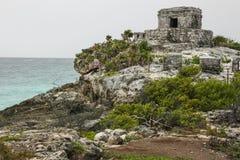 Αρχαίες των Μάγια αρχιτεκτονική και καταστροφές που βρίσκονται σε Tulum, Μεξικό Στοκ Εικόνες