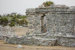 Αρχαίες των Μάγια αρχιτεκτονική και καταστροφές που βρίσκονται σε Tulum, Μεξικό Στοκ εικόνα με δικαίωμα ελεύθερης χρήσης