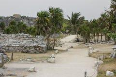 Αρχαίες των Μάγια αρχιτεκτονική και καταστροφές που βρίσκονται σε Tulum, Μεξικό Στοκ Φωτογραφίες