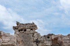 Αρχαίες των Μάγια καταστροφές σε Tulum, Quintana Roo Στοκ Φωτογραφία