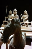 Αρχαίοι κινεζικοί πολεμιστές Στοκ Εικόνα