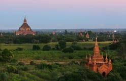 αρχαίοι bagan ναοί stupas της Myanmar πόλεων Στοκ φωτογραφία με δικαίωμα ελεύθερης χρήσης