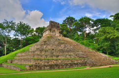 αρχαίοι maya Μεξικό palenque ναοί Στοκ εικόνα με δικαίωμα ελεύθερης χρήσης
