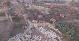 Αρχαίος Έλληνας και αρχαίες ρωμαϊκές καταστροφές στην Τουρκία απόθεμα βίντεο