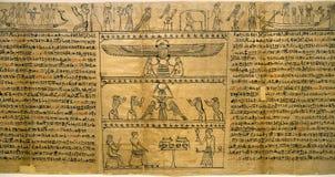 αρχαίος αιγυπτιακός πάπυρος Στοκ φωτογραφία με δικαίωμα ελεύθερης χρήσης