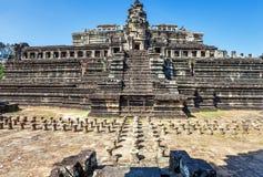 Αρχαίος βουδιστικός khmer ναός σε Angkor Wat σύνθετο Στοκ Εικόνες
