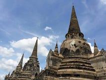 Αρχαίος βουδιστικός ναός σε Ayutthaya Ταϊλάνδη Στοκ Φωτογραφία