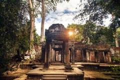 Αρχαίος βουδιστικός khmer ναός σε Angkor Wat σύνθετη Καμπότζη Στοκ Εικόνες