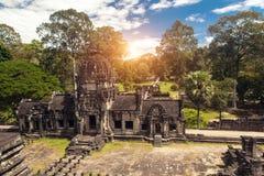 Αρχαίος βουδιστικός khmer ναός σε Angkor Wat σύνθετο, Καμπότζη Στοκ Φωτογραφία