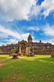 Αρχαίος βουδιστικός khmer ναός σε Angkor Wat σύνθετο Στοκ Εικόνα