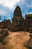 Αρχαίος βουδιστικός khmer ναός σε Angkor Wat Στοκ Εικόνα