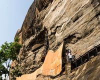 Αρχαίος βράχος Sigiriya στη Σρι Λάνκα στοκ εικόνα