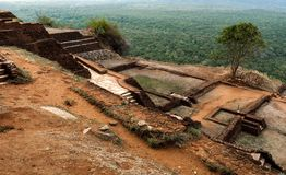 Αρχαίος βράχος Sigiriya στη Σρι Λάνκα στοκ φωτογραφία