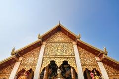 Αρχαίος βόρειος ναός της Ταϊλάνδης Στοκ Εικόνες