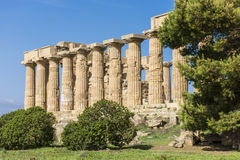 αρχαίος ελληνικός ναός λ στοκ εικόνες