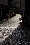 Αρχαίος η οδός στο Μοστάρ στοκ εικόνες