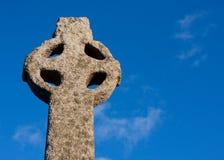 αρχαίος κελτικός σταυρός Στοκ Εικόνες