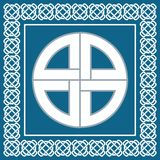 Αρχαίος κελτικός κόμβος, σύμβολο της προστασίας που χρησιμοποιείται από Βίκινγκ, διάνυσμα Στοκ Εικόνα