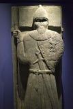 Αρχαίος κελτικός πολεμιστής πετρών Στοκ φωτογραφία με δικαίωμα ελεύθερης χρήσης