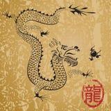 αρχαίος κινεζικός δράκο&si απεικόνιση αποθεμάτων