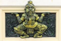 Αρχαίος κινεζικός πολέμαρχος Στοκ φωτογραφίες με δικαίωμα ελεύθερης χρήσης