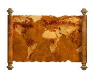 αρχαίος κόσμος χαρτών Στοκ φωτογραφία με δικαίωμα ελεύθερης χρήσης