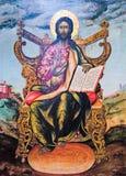 αρχαίος Λόρδος του Ιησού εικονιδίων Στοκ Φωτογραφίες