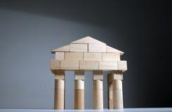αρχαίος μπροστινός ναός στοκ φωτογραφία