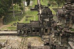 Αρχαίος ναός σε Angkor Wat σύνθετο, Καμπότζη Στοκ Εικόνες