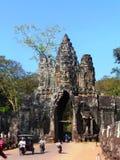 Αρχαίος ναός σε Angkor Wat/την Καμπότζη Στοκ Εικόνα