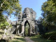 Αρχαίος ναός σε Angkor Wat/την Καμπότζη Στοκ Φωτογραφίες