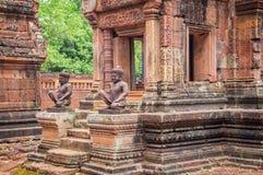 Αρχαίος ναός σε Angkor Wat, ύφασμα Καμπότζη Siem Στοκ φωτογραφία με δικαίωμα ελεύθερης χρήσης