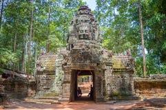 Αρχαίος ναός σε Angkor Wat, ύφασμα Καμπότζη Siem Στοκ εικόνα με δικαίωμα ελεύθερης χρήσης