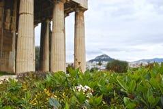 Αρχαίος ναός στην Αθήνα Στοκ Φωτογραφίες