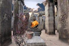 αρχαίος ναός συνεδρίασης του Βούδα bayon prasat Στοκ Φωτογραφίες