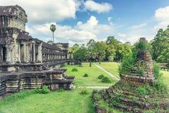 Αρχαίος ναός σύνθετο Angkor Wat Στοκ Εικόνες