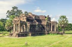 Αρχαίος ναός σύνθετο Angkor Wat Στοκ Φωτογραφία