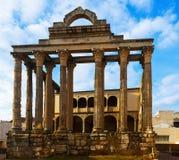 Αρχαίος ναός της Diana Μέριντα, Ισπανία Στοκ φωτογραφίες με δικαίωμα ελεύθερης χρήσης