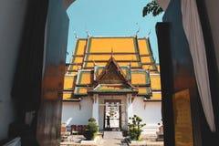 Αρχαίος ναός του Βούδα στη Μπανγκόκ, Ταϊλάνδη στοκ φωτογραφίες