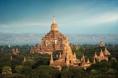 Αρχαίος ναός Ananda σε Bagan Το Μιανμάρ (Βιρμανία), στοκ εικόνες