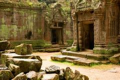 Αρχαίος ναός Angkor Wat, Καμπότζη Μνημείο Buddist Στοκ φωτογραφία με δικαίωμα ελεύθερης χρήσης