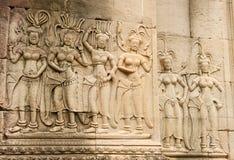 Αρχαίος ναός Angkor Wat, Καμπότζη Στοκ Εικόνες